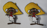 "SPEEDY GONZALES  (2) Embroidered Iron or Sewn on Patch - 3"" - Looney Tunes"