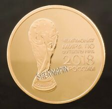 FIFA World Cup | Russia 2018 | Football Soccer | Gold Plated Challenge Coin