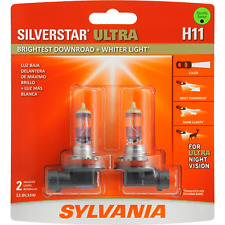 Sylvania Silverstar Ultra H11 55W Head Light Low Beam Replacement OE Two Bulbs