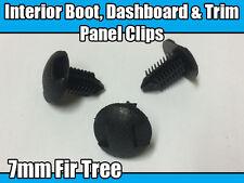 10x 7 mm clips de árbol de Abeto Para Toyota Fijación Panel guarnecido Bota Interior Y Tableros