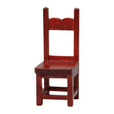 KQ_ 1/12 Scale Doll House Miniature Wooden Furniture Chair Model Room Decor Eage