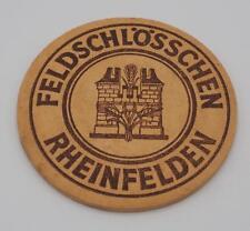 Vintage Beer Coaster Bar Mat Feldschlossen Rheinfelden