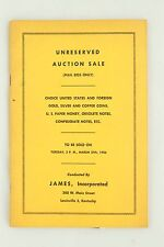 JAMES Incorporated Unreserved Auction Sale 1956 Vintage Auction Coin Catalog