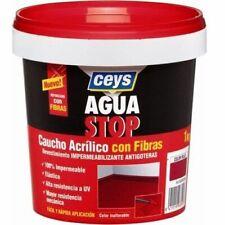 Impermeabilizante aguastop caucho acrilico con fibras 1 kg  Blanco - G