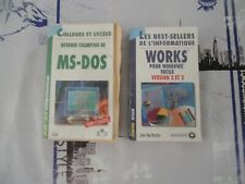 MS-DOS et WORKS - College et Lycee - LIVRES - THEORIE et EXCERCICES