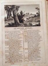 LA FONTAINE. LE RENARD ANGLAIS. FABLE ET GRAVURE 1834