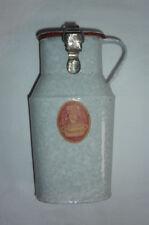 Antike Emaillekanne mit Deckel, Spannverschluss,Selten, E.J.B. Qualitätsgeschirr