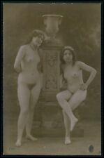 c14 French nude woman vintage girl original c1910-1920s old RPPC photo postcard