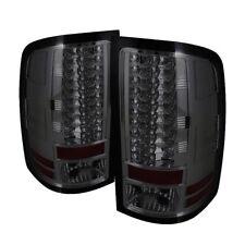 GMC 07-13 Sierra 1500/2500HD/3500HD Smoke LED Rear Tail Lights Brake Lamp Set