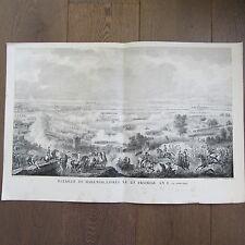 GRAVURE 1850 PAR VERNET NAPOLÉON 1800 BATAILLE DE MARENGO