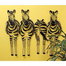 African Tribal Wildlife Animal Wall Art Zebra Stripes Metal Wall Frieze