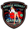 GREASE MONKEY GARAGE SHAPED HILDEBRANDT METAL SIGN PINUP HAND SIGNED FREE PRINT