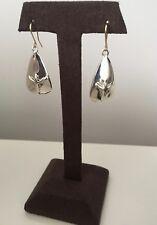 Rune Earrings Pierced 14K Gold Wire Vintage Signed Robert Lee Morris Sterling