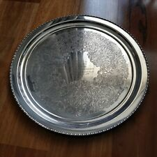 Vintage Etched Silver Trophy Plate