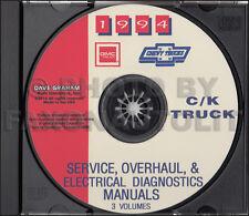 1994 Gmc Ck Truck Shop Manual Set on Cd Sierra Pickup Yukon Suburban Service