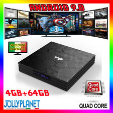 Android 9.0 T9 PRO 4GB 64GB  QUAD CORE 4K RK3328 WiFi Smart TV Box Bluetooth