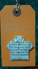 Handmade origami shirt fridge magnet made from page of a  Harry Potter book