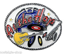 At The Hop 50er Rockabilly Buckle o. Biker,Rock`n Roll Gürtelschnalle