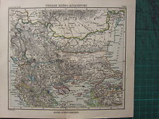 1897 ANTIQUE MAP ~ MACEDONIA THRACIA MOESIA DACIA ILLYRIA