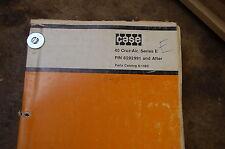 CASE 40 Series E Cruz Air Wheel Excavator Parts Manual book catalog list drott