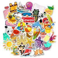 50 Pcs DIY Cartoon Waterproof Sticker Skateboard  Suitcase Trolley Case Stickers