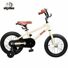 14/16 Inch Kids Bike Diy Beige Steel Bike Kids Bicycle Detachable Training Wheel