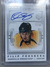 2013-14 National Treasures Filip Forsberg RC Rookie Riches Autogragh #/99 PREDS
