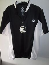 "NWT Tenn Mens Coolflo Size Large Fits 42-44"" Chest Cycling Jersey - Black/White"