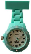 Prince NY London Pastel Blue Silicone Rubber Plastic Nurse Fob Watch Brooch