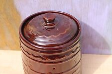 Vintage Marcrest Stoneware Daisy Dot Cookie Jar with Lid