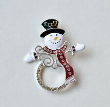 Snowman Brooch Christmas Costume Jewellery Gift
