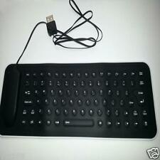 USB Mini Flexible Silicone Keyboard Foldable for Laptop Notebook BK YT8