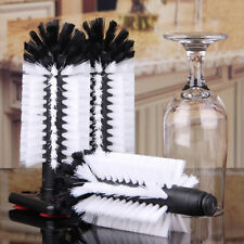 Plastic Home Bar Glass Wine Beer Cup Brush Cleaning Tools Set with 3 Brush B