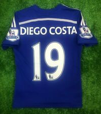 CHELSEA 2014/2015 DIEGO COSTA HOME FOOTBALL SOCCER JERSEY ADIDAS BOYS SIZE M