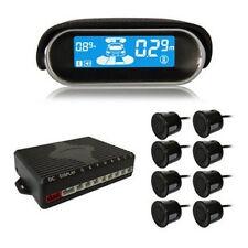 Black 8 Parking Sensor Dual-core Front/Rear LCD Display Car Reverse Backup Radar