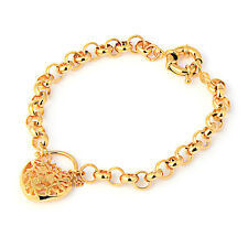 Love/Heart Gold Filled Charm Bracelet Fashion Jewelry 8 inch Gift Free shipping