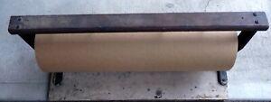 Antique Vintage 2' Brown Paper Roll Holder/ Dispenser