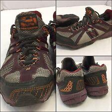 86d48cdb604a New Balance 800 Size 7.5 B Women Gray Burgundy Running Shoes EUC YGI