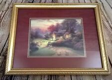 "Thomas Kinkade ""The Good Shepherds Cottage"" Matted and Framed Print w/ COA 12x15"