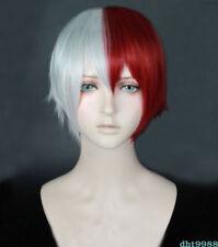 US!My Hero Academia Todoroki Shouto Wig Shoto Todoroki White And Red Cosplay