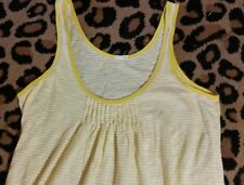 J Crew Women's Tank Top Small S yellow and white strip crate 6