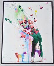 Lora Zombie MINI UNICORN Ballerina Butterfly Autographed Hand Signed Art Print