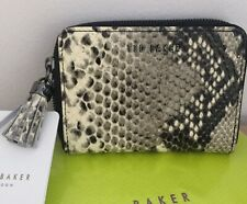 Ted Baker New Leather Snake Zip Around Tassel  Sabel purse