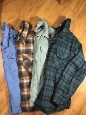 vintage pendleton men's Long Sleeve large Shirts Solid & Plaid
