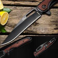 Auténtica...... cuchillo Enlan ew009/8cr13mov/madera/Liner-Lock