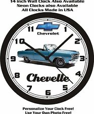 1965 CHEVROLET CHEVELLE  WALL CLOCK-FREE USA SHIP!