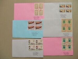 Six Portugese colonies MOZAMBIQUE covers with block of four stamps