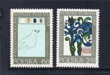 La Pologne neuf sans charnière 1968 SG1824-1825 2ND int Poster Biennale