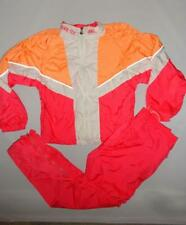 ASICS Retro Vintage Track Suit Womens Med Pink Orange Wind Breaker Jacket Pants