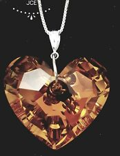 Necklace using Swarovski element pendant astral pink Sterling silver chain JCE11